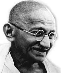 """""""Mohandas Gandhi learned…how much better…peaceful non-resistance…"""""""